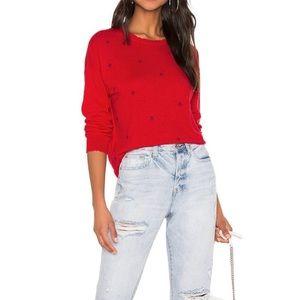 Sundry Star Struck Cashmere Blend Sweater Red XS